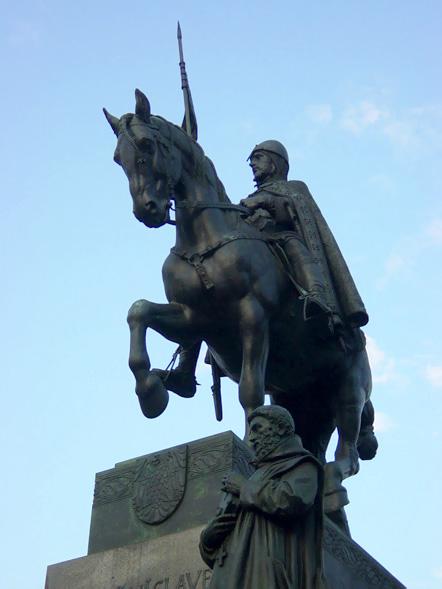 Venceslas statue prague