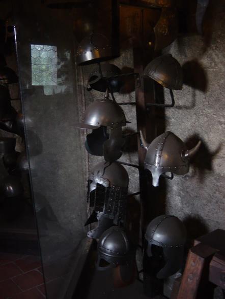 armors in the golden road prague castle